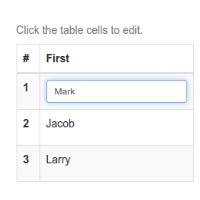 Cómo disponer de una tabla editable en cualquier web gracias al plugin Tabledit para jQuery