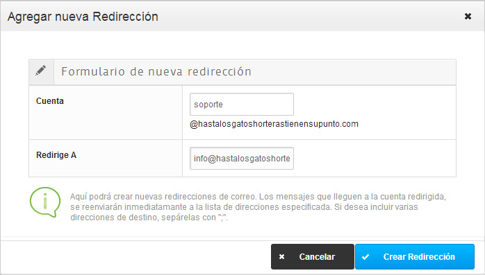 agregar-nueva-redireccion-configurar-email-blog-hostalia-hosting