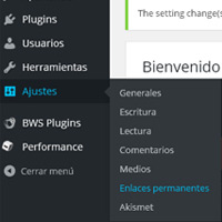 Configurar los enlaces permanentes de WordPress en los servidores de Hostalia