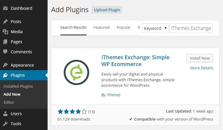 iThemes Exchange tienda online
