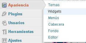 opcion widget apariencia-blog-hostalia-hosting