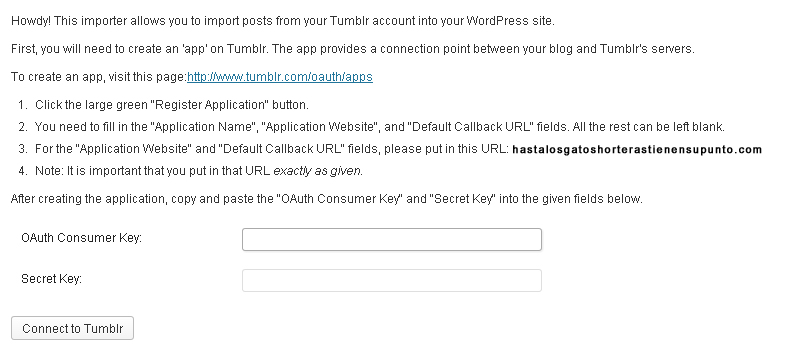 solicitud claves tumblr