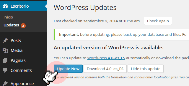 updates-wordpress-wp-blog-hostalia-hosting
